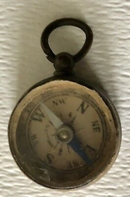 Antique German Germany Military? Small Brass Directional Compass