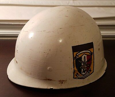 Panama Defense Forces M1 Helmet Liner With Hand Painted Insignia