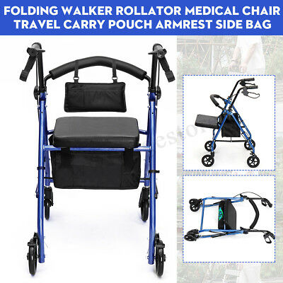 Travel Carry Pouch Side Bag+ Foldable Walker Rollator Mobility Aid Medical Chair