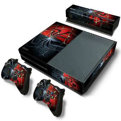 cccc919e39a51e XBOX ONE Console Controllers  Kinect Spider-Man Theme Decals Vinyl Skin  Sticker