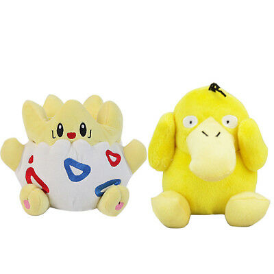 2X Pokemon Center Togepi and Psyduck Duck Soft Plush Doll Kids Christmas Gift