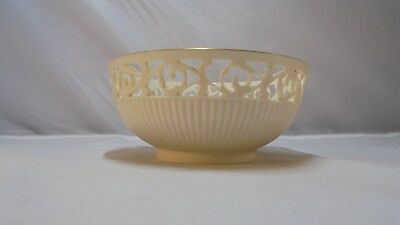 """Lenox Small Decorative Bowl with Gold Trim and Cut-outs 5 3/8"""" diameter"""