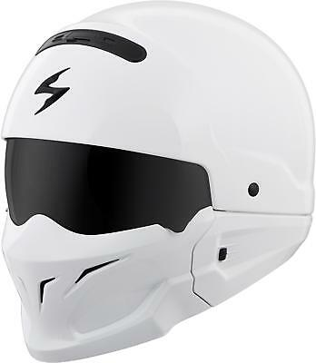 Scorpion Covert Open-Face Solid Helmet Gloss White 3X Cov-0208