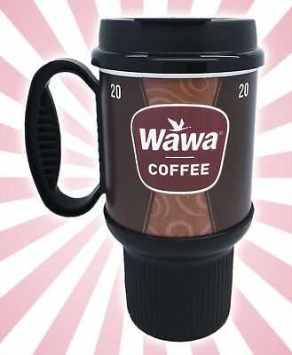 Wawa Gas Station Classic Coffee Mug Cup Brown Insulated Double Wall 20 OZ