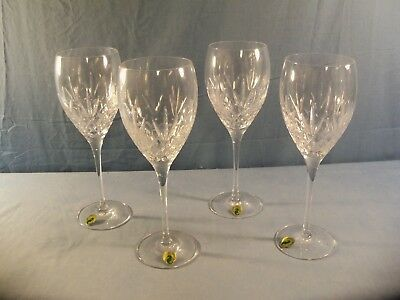 Set of 4 Waterford Crystal Goblets - Plaza Pattern - MINT UNUSED