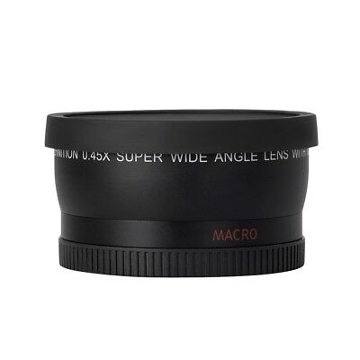 HD 52MM 0.45x Wide Angle Lens with Macro Lens for Canon Nikon Sony Pentax 52MM D