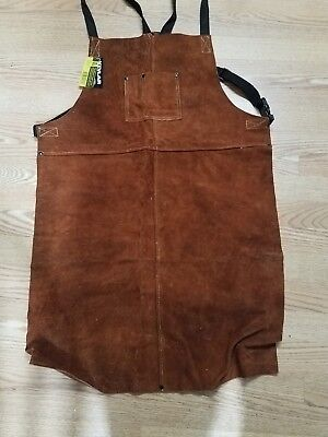 """new with tags steiner kevlar reinforced welding bib apron 24""""wx36""""l"""