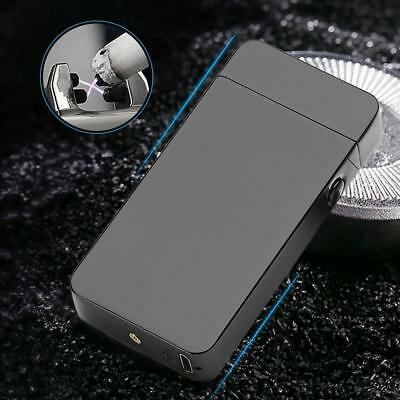 Black Electric Arc Flameless Torch Cigarette Windproof USB Rechargable Lighter