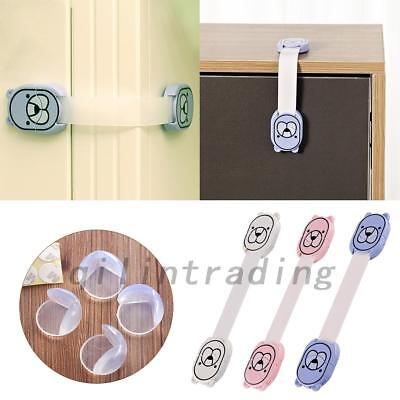10Pcs Kid Cupboard Cabinet Safety Latches Pet Proofing Door Drawer Strap Locks