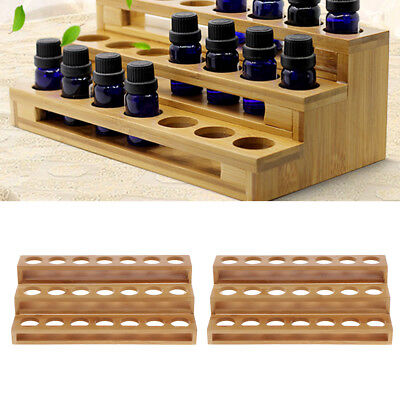 2x Essential Oils Storage Shelf 21 Slots Bottles Holder Rack Organizer 3Tier