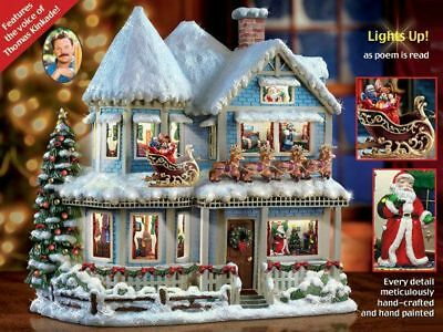 Hawthorne Village Thomas Kinkade The Night Before Christmas Story House (mbl17)