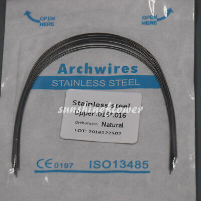 1 Pack Dental Ortho Stainless Steel Arch Wire Natural Rectangular 16*16 Upper