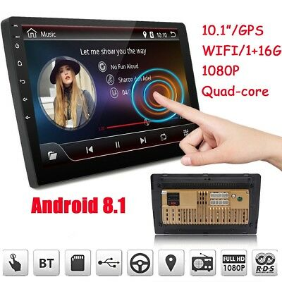 "10.1"" Android 8.1 Quad Core 2 Din Car Stereo Radio GPS Wifi Touch MP5 Player 16G"