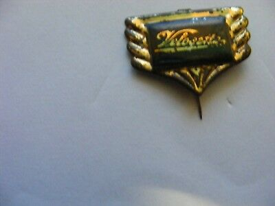 VELOCETTE  motorcycle very old lapel,hat pin badge,prob. 1950s.(D)