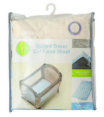 Playette - Quilted Travel Cot Fitted And Padded Sheet