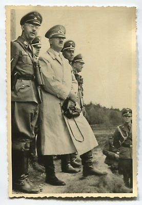 German Wwii Photo From Archive: Group Of Men In Uniforms
