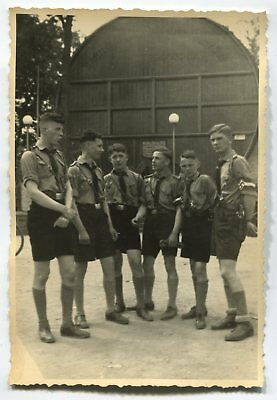 German Wwii Archive Photo: Boys In Scout Uniforms