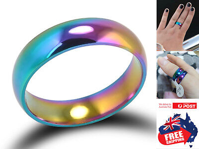 Titanium Stainless Colorful 6mm Brushed Center Men Women Wedding Band Ring 1pc