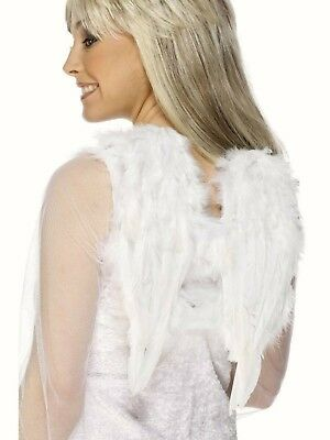 White Feather Angel Wings Fairy Fancy Dress Costume Christmas Outfit Adult Child