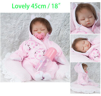 Realistic Sleeping Newborn Doll Lifelike Baby Real Touch Soft Vinyl Babies Toy
