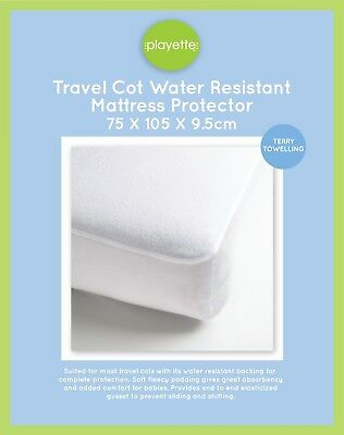 Playette Travel Cot Water Resistant Mattress Protector - Terry Towelling - 13941