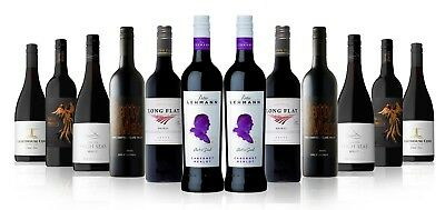 RRP $329! Premium Red Mix with Barossa Valley Peter Lehmann Cab Merlot 12x750ml