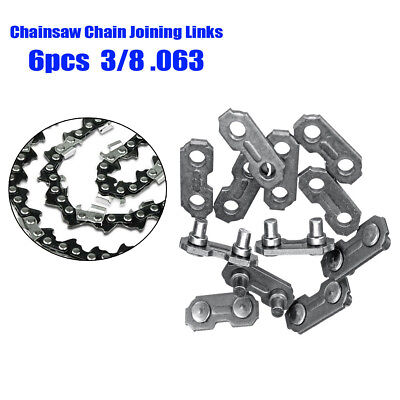 6X 3/8 0.063 Steel Chainsaw Chain Joiner Link For Joining Chains Accessories TOP
