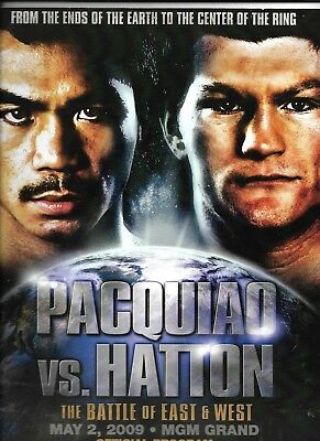 Manny Pacquiao Ricky Hatton   On Site Boxing Program   May 2, 2009