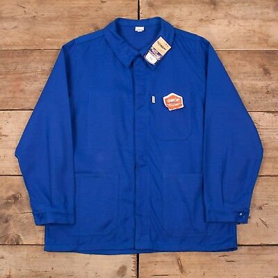"Mens Vintage Deadstock Techwear Blue French Workwear Chore Jacket XL 46"" R10723"