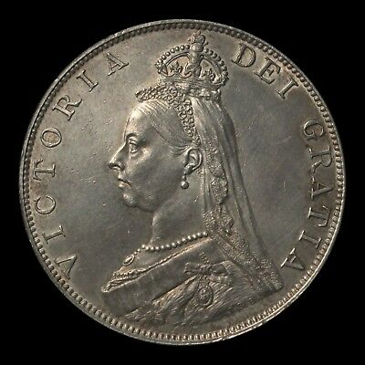Victoria Double Florin, 1887, Jubilee head, Roman I in date, Extremely Fine
