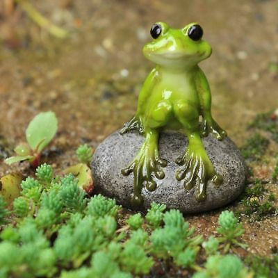 Miniature Fairy Garden Cute Frog on Stone - Buy 3 Save $5