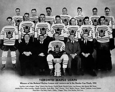 1933 Toronto Maple Leafs Team Photo 8X10