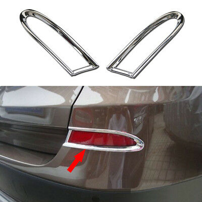 ABS Chrome Rear Fog light lamp Cover Trim Garnish fit for BMW X3 F25 2011-2014