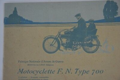 Catalogue Motocyclette Fn Type 700