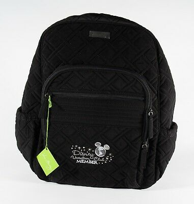 New Vera Bradley Disney Vacation Club Black Collection Campus Backpack DVC