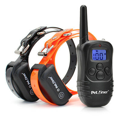 Petrainer Dog Training Shock Collar Waterproof Rechargeable Remote Control 2 Dog