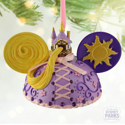 Disney Parks TANGLED Mickey Ears Hat Ornament - New with Tags