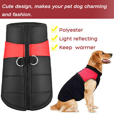 Waterproof Dog Winter Jacket Warm Padded Coat Clothes Vest For Small / Large Pet