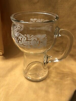 Pepsi Cola 1970's Vintage Glass Mug