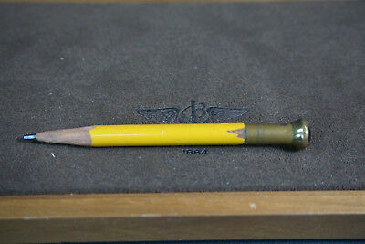 Antique Art Deco Writing Pencil Home Desk Drafting Set Ruby Stone&Brass Tip End
