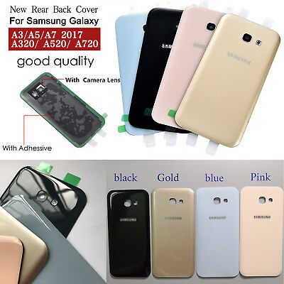 For Samsung A320 A520 A720 2017 Back Rear Glass Battery Housing Door +Adhesive