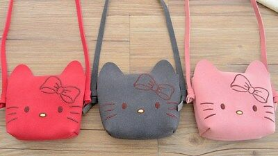 Adorable Hello Kitty Girl Toddler Kids Crossbody Shoulder Bag RED or PINK NEW
