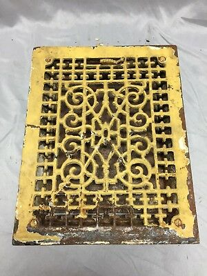 Antique Cast Iron Victorian Heat Grate Floor Register 9X12 Vintage Old 532-18C