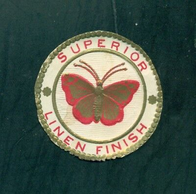 1880's Superior Linen Finish Butterfly Label