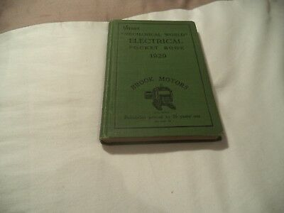 Brook Motors  Pocket Book   1929   Very Scarce