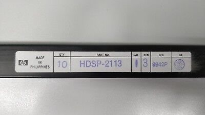 10 X Original HP HDSP-2113 Alphanumeric Displays 8DIGIT 280LED Green DIP-28