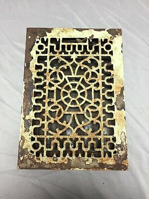 Antique Cast Iron Decorative Heat Grate Floor Register 8X12 Vintage Old 535-18C