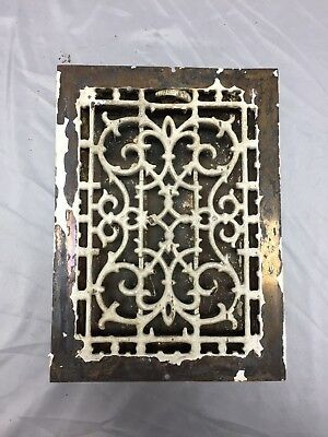 Antique Cast Iron Decorative Heat Grate Floor Register 8X12 Vintage Old 536-18C