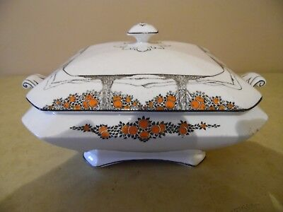 Antique Art Deco Crown Ducal Pottery Collectable Orange Tree Dish