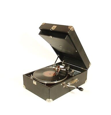 1925 Victor Victrola Portable Phonograph * Near Mint, Working & All-Original